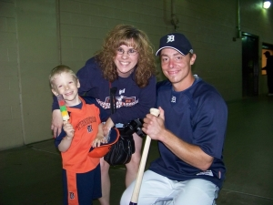 Noah, Diana, and Brandon Inge