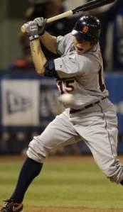 Brandon Inge hit by a pitch