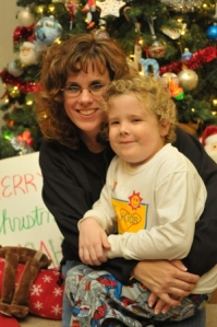 Noah and Diana by the Christmas Tree