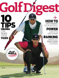 Tiger and Barack on Golf Digest Cover