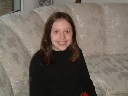 Rachel on couch