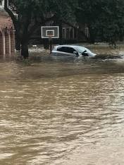Car under water in Houston