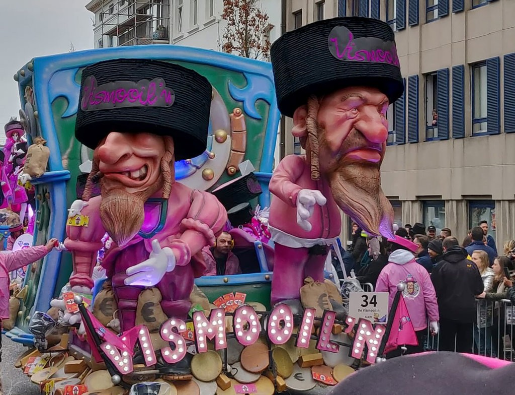 Two Orthodox Jews in Belgium parade